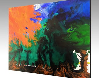 "Abstract Painting PRINT on Gallery wrapped canvas - ""Global Warming"""