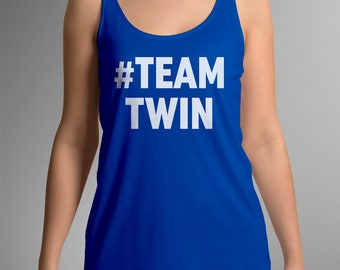 Team Twin Bold Ladies Tank Top - Gifts for Twins - Ladies Vest - Twin Sister