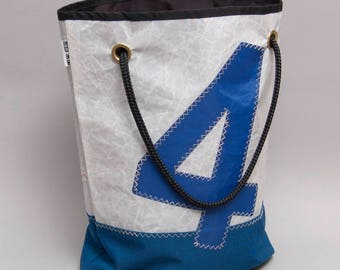 Recycled sail tote bag from a Star sailboat