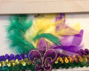 Mardi  Gras Headband  Sequin