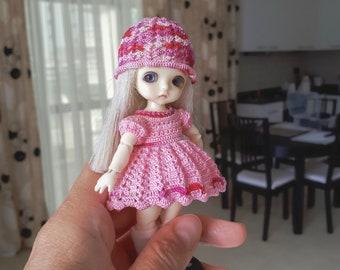 Set for Lati White SP (12 cm):  dress, cap, underskirt