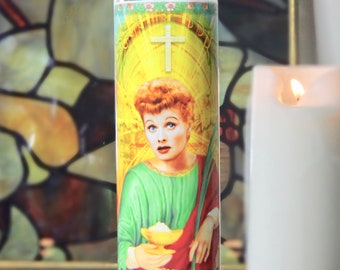 Lucille Ball Celebrity Prayer Candle - I Love Lucy
