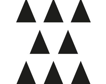 Triangles stickers for wall decoration or every surface - very easy to install
