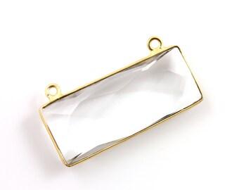 Crystal Bezel Component, 24K Gold Vermeil Over Sterling Silver, 1 Piece, (CST/PDT/101)