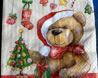 Christmas Teddy bear paper towel