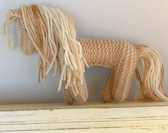 Eco Toy, Earth Pony, Waldorf Toy, Stuffed Animal Horse, natural and eco friendly