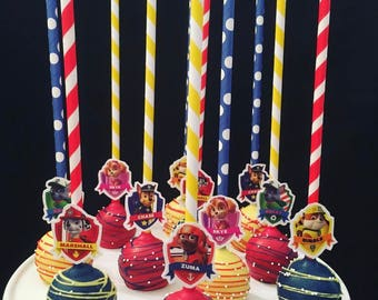 Personalized Paw Patrol Cake Pops