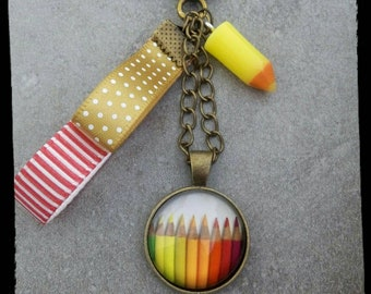 Painters and teachers gift keychain