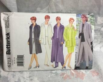 Butterick 6213 women's jacket pants skirt and top lagenlook Sewing Pattern Uncut Sz 14-16-18