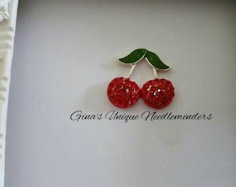 Red Cherries Needle Minder