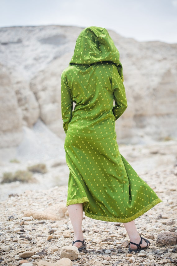 Majestic Ethnic Green Hooded Ethnic Hooded Majestic Green Majestic Cape Cape Green Ethnic CgYwdRxwqf