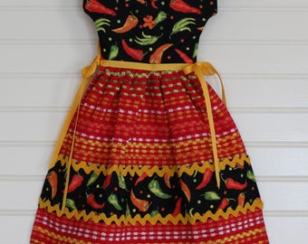 Bright Hot Pepper Kitchen Towel Dress
