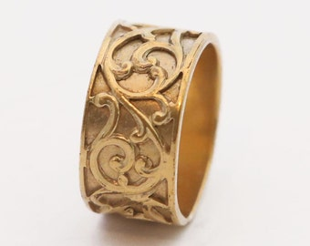 MOTHERS DAY GIFT, Gold Lace Ring, Gold Ring, Gold Filigree Ring, Filigree Ring, Gold Ring, Marrocan Style, Ornamental Gold Ring, Wife Gift