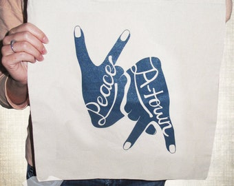 Peace Up A-Town Down Atlanta Tote