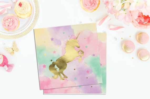 Unicorn Napkins - Unicorn Tableware Unicorn Birthday Party Unicorn Party Decor Unicorn Party Decorations Unicorn Party Supplies from Pelemele on Etsy ... & Unicorn Napkins - Unicorn Tableware Unicorn Birthday Party Unicorn ...