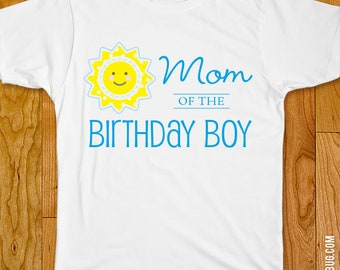 Blue Sunshine Birthday Iron-On - Mom/Dad/Family of the Birthday Boy - Customizable for any wearer