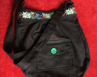 Green Button Bag