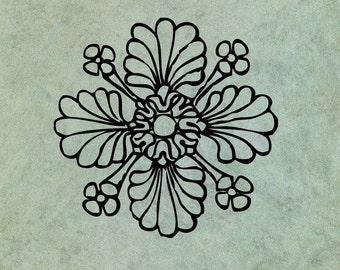 Neoclassical Flower 2 - Antique Style Clear Stamp