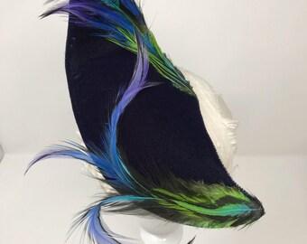 Feathered Velvet Swoop Fascinator