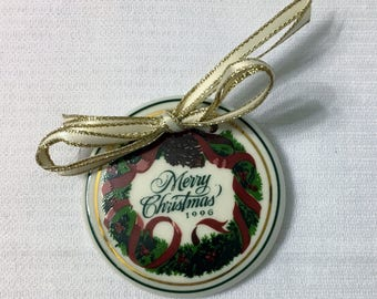 Longaberger 1996 Merry Christmas Basket Tie-On