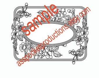 Plum Blossom Frame Rubber Stamp