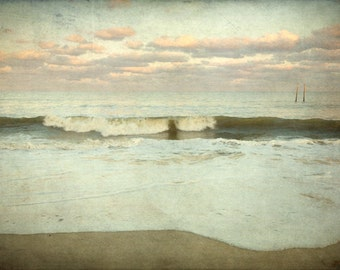 Large Beach Print, Original Photography, Muted Tones, Missing No. 1624 by Tricia McKellar