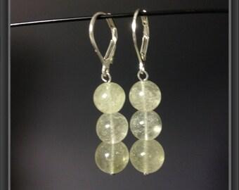 Libyan Desert glass earrings