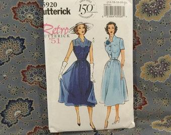 Butterick 50s dress pattern size 14-22