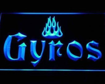 Gyros LED Sign Neon Sign 2 sizes 6 colors with On/Off Switch