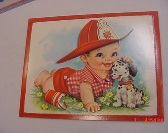 5 Vintage Guys & Gals Baby Large Greeting Cards In Original Box  17 - 8
