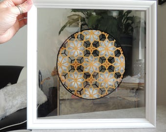 Antarctica - stained glass frame - 30 * 30