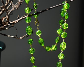Green  ice necklace