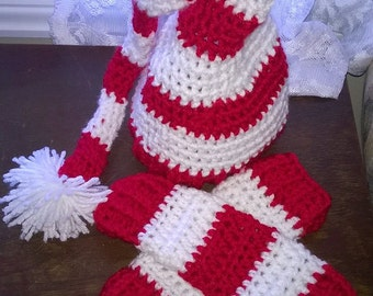 Baby Christmas Hat and Leg Warmers