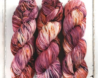Sport Weight Yarn//Hand Dyed//Speckled//Superwash Merino//100 g 325 yds//Super Squishy Sport Superwash - Love is a Riddle *In Stock