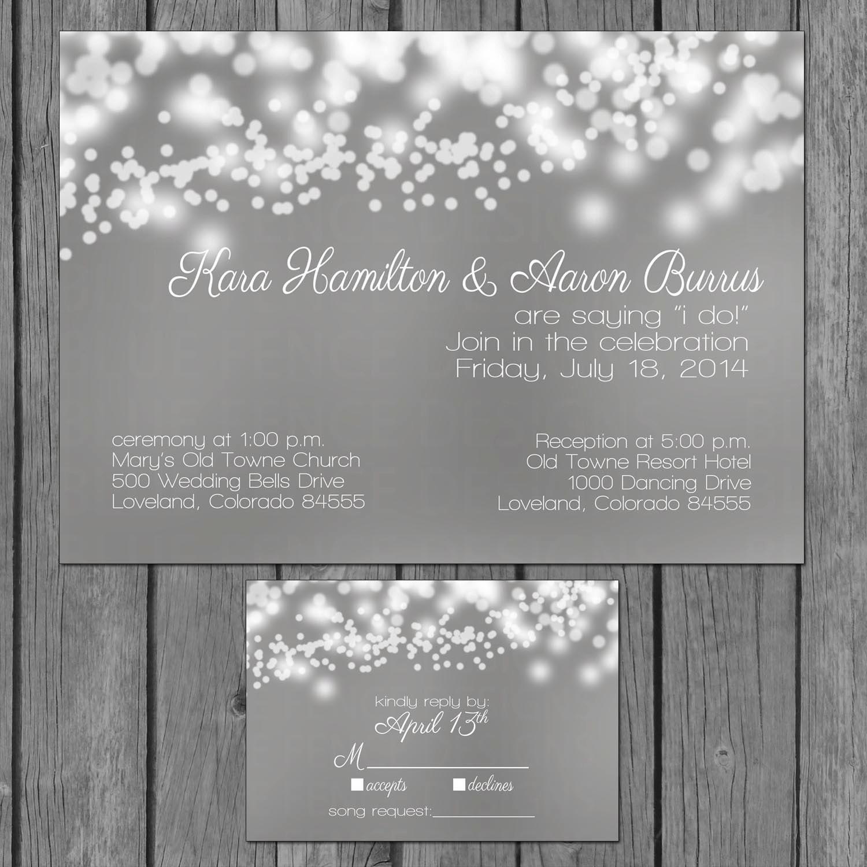 diy bubble lights wedding invitation string lights