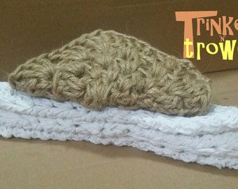 4 Pack: Dishcloths and Scourer. Wash cloths. Crocheted cotton. Jute. Old Fashioned Dishwashing Cloths Like Granny Used.