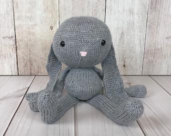 Floppy Bunny, Stuffed Animal, Knit Toy, Knit Bunny, Stuffed Bunny, Baby Gift, Bunny Doll, Plush Toy, Soft Toy, Knit Stuffed Animal, Handmade