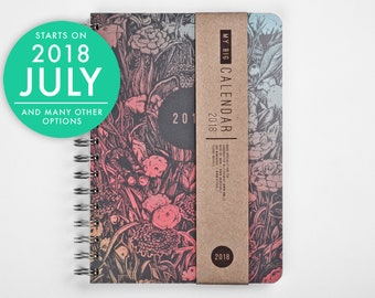 2018-2019 Planner with a high quality paper! Dark forest design A5 Diary! Weekly Calendar Kalender Agenda Journal! Open-dated available