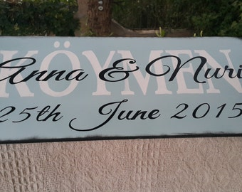 Hand painted Family signs