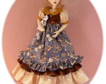 """Gracefaerie PDF pattern 45- Seasons for MSD.  A dress for every season to fit many MSD dolls.  Adjust for Ellowynne Wilde and 14"""" Kish"""