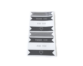 Black and White Banner Stickers (4 different designs)