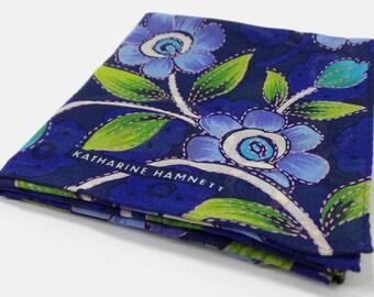 Katharine Hamnett VINTAGE Handkerchief Katharine Hamnett Floral Design Handkerchief