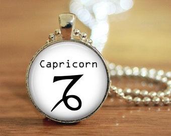 Capricorn Pendant, Capricorn Keychain, Capricorn Necklace, Capricorn Jewelry, Zodiac Necklace, Zodiac Keychan, Zodiac Jewelry, Capricorn