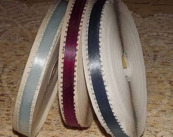 """Large SPOOL of Antique / Vintage Picot RIBBON Trim 5/8""""w ~ Old Stock ~ 3 colors available"""