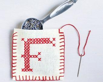 Letter F - Stitch Your Own Sachet Kit