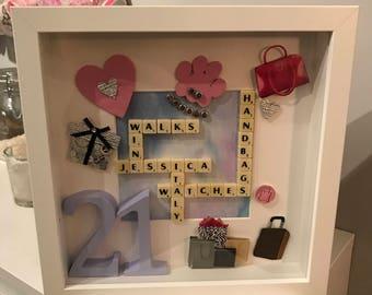 Mini Scrabble tile Personalised Frames