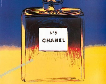 Chanel N5 Original 1997 by Andy Warhol mounted on linen excellent