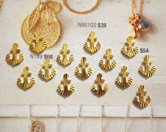 14 Brass Diamond Cut Anchors