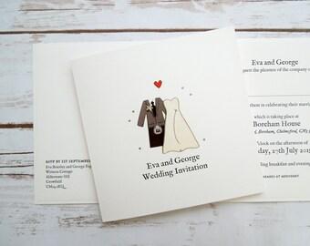 Scottish Bride and Groom Wedding/Evening Invitations