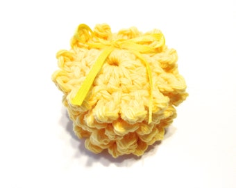 Yellow Sun Crocheted Make-Up Removers-Set Of Six